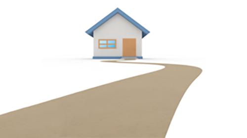 家と道路イラスト